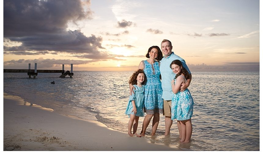 Classic family photo shoot at Ocean Club West Resort