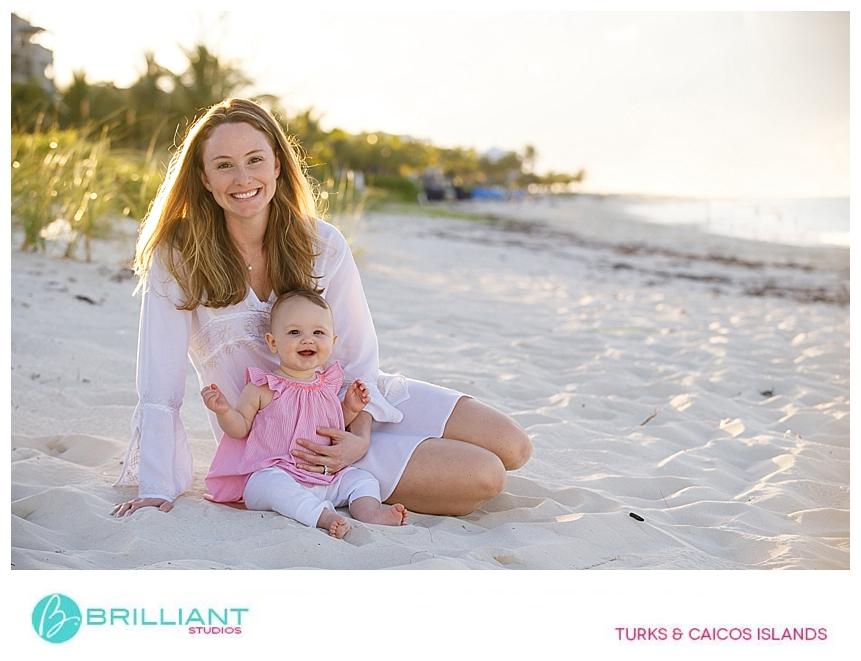 family photo shoot on grace bay beach