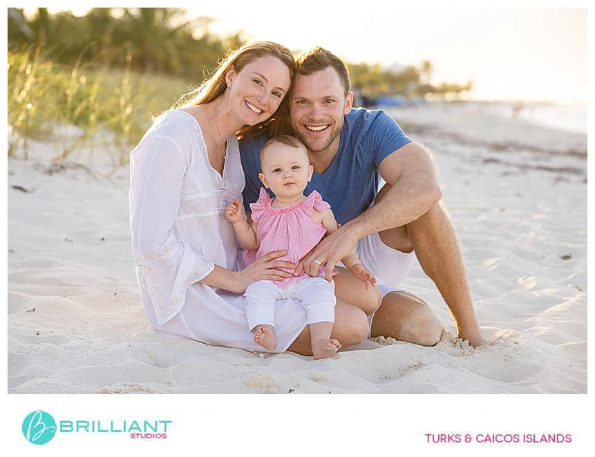 family portrait at the beach in the turks and caicos