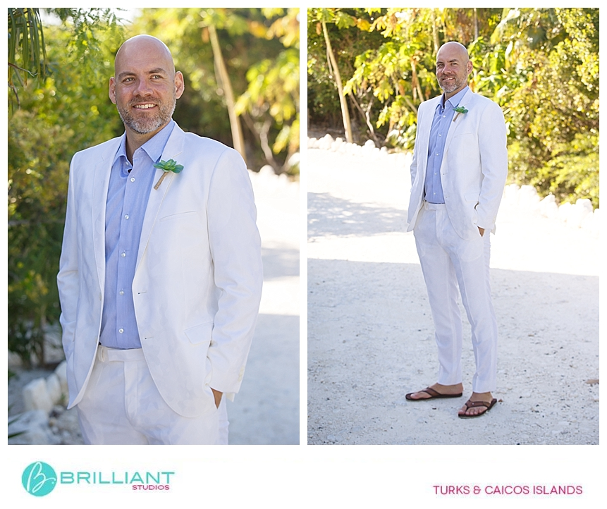 groom getting ready during a wedding in providenciales