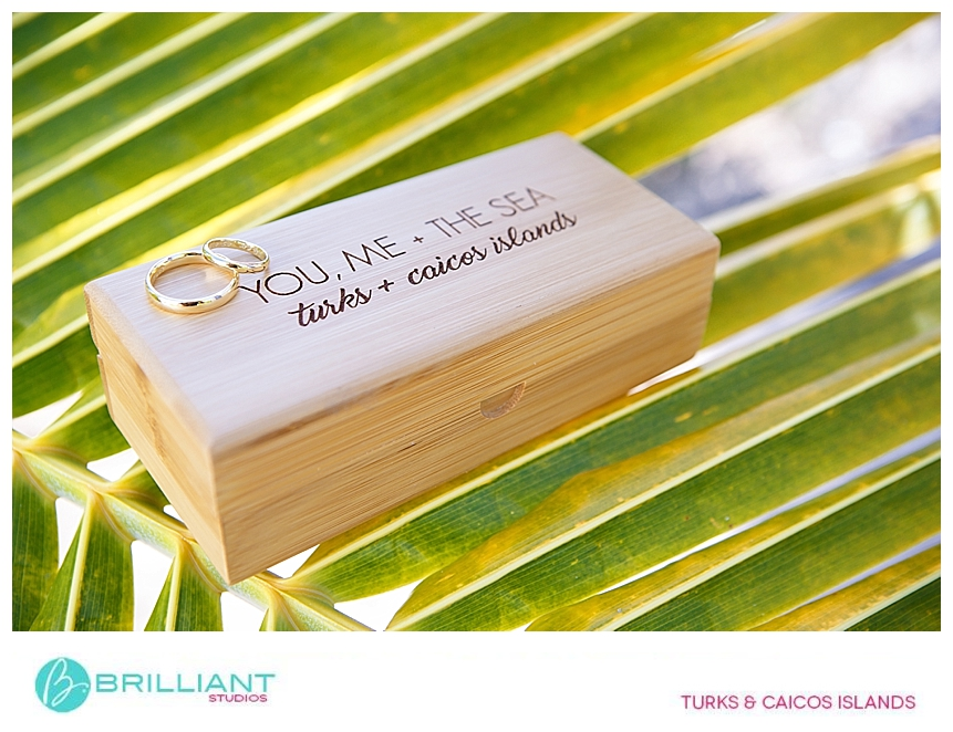 wedding rings from a turks and caicos wedding