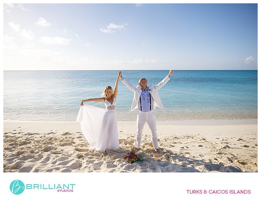 newly weds in the turks and caicos islands