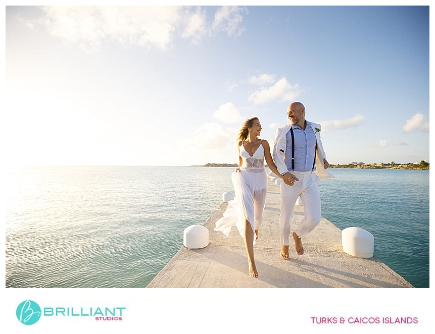 bride and groom during their turks and caicos destination wedding
