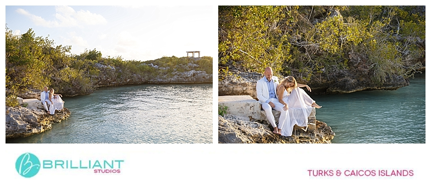 wedding couple during their turks and caicos photo shoot