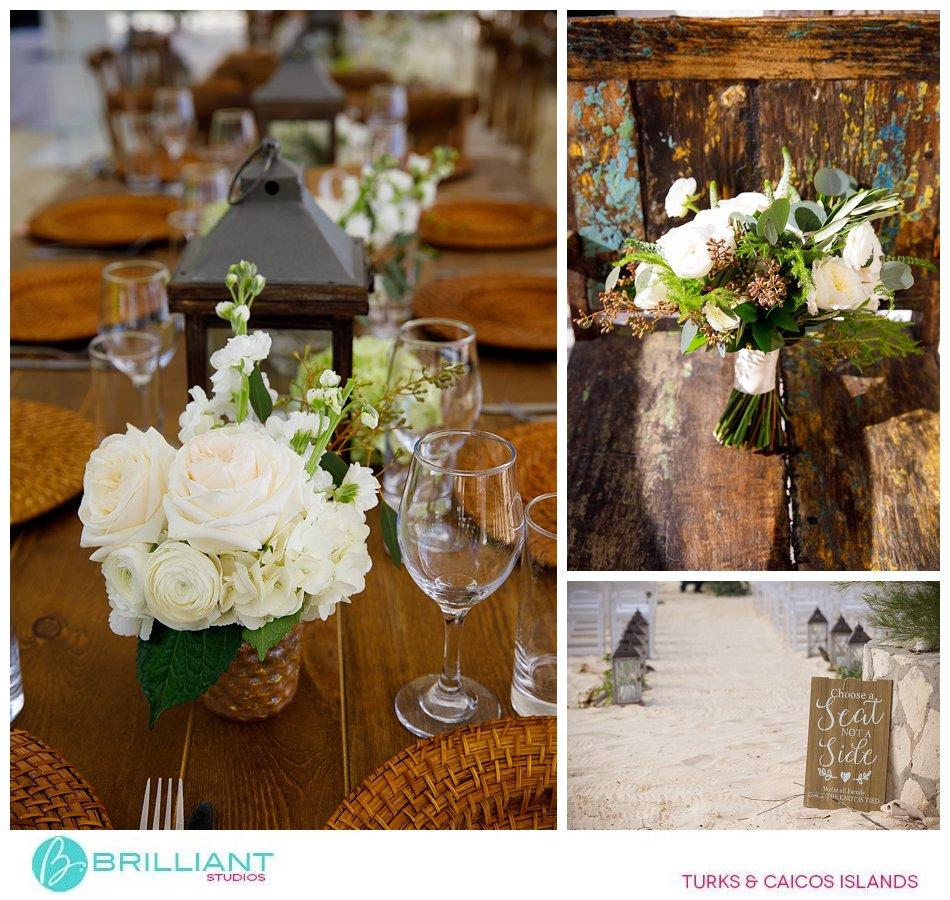 wedding set up Turks and Caicos Islands