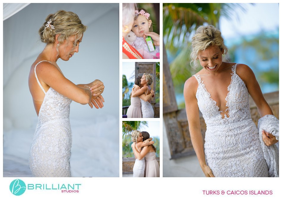 bride getting ready Turks and Caicos