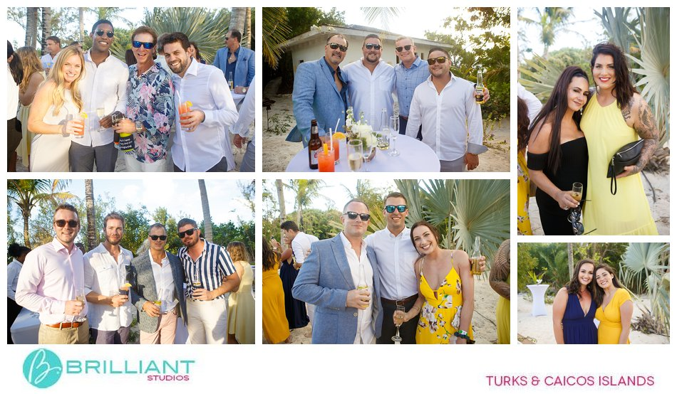wedding cocktail party Turks and Caicos Islands