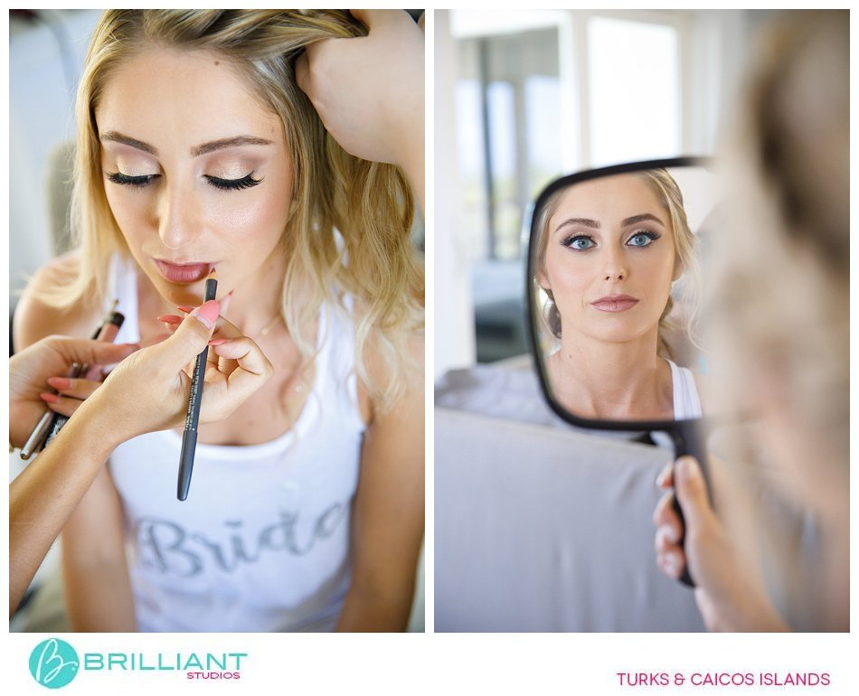 bride gettng ready Turks and Caicos