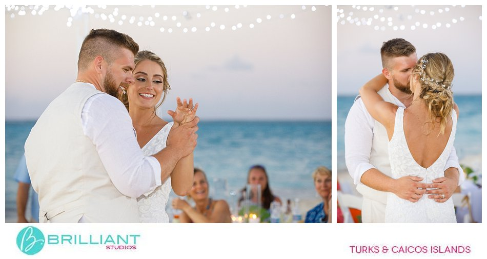 Turks and Caicos first dance on Grace Bay Beach