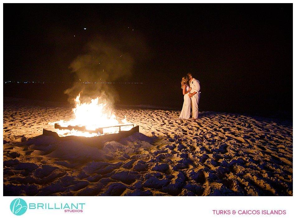 bonfire Turks and Caicos Wedding