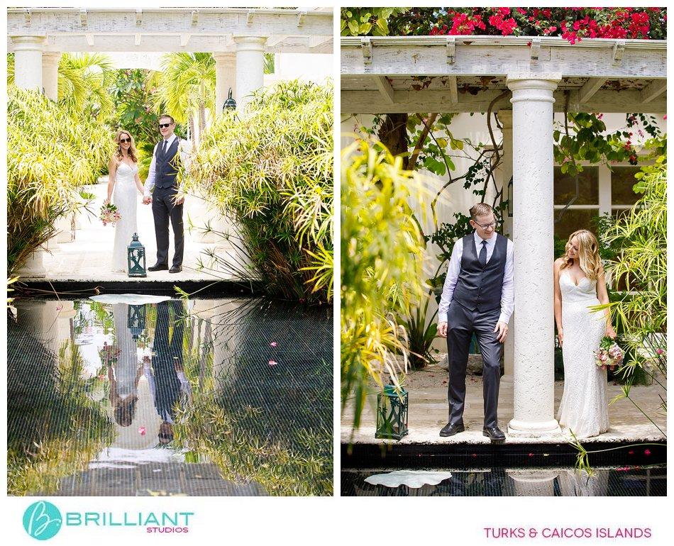 couple portrait wedding Turks and Caicos