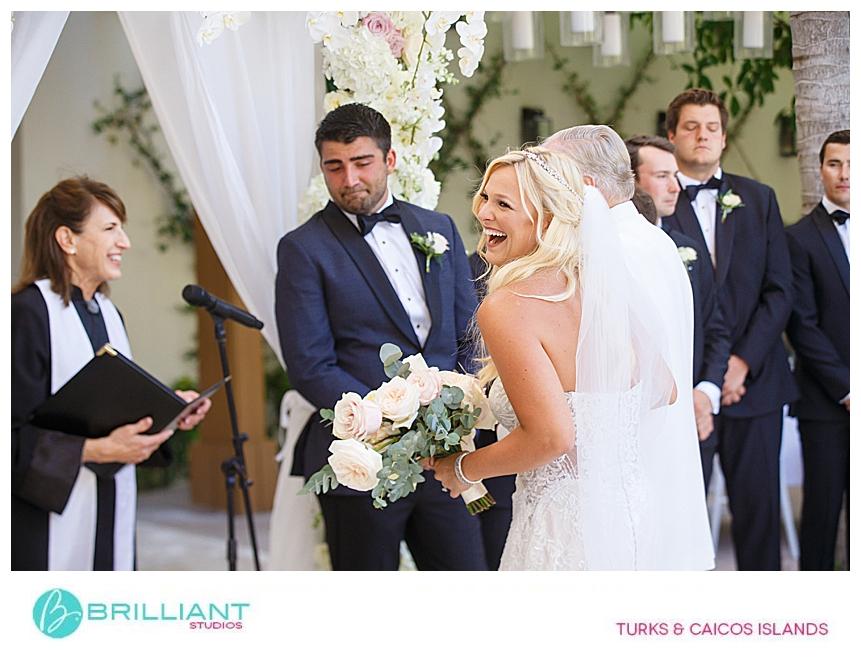 bride and dad during a destination wedding