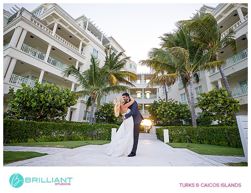 bride and groom at the shore club resort
