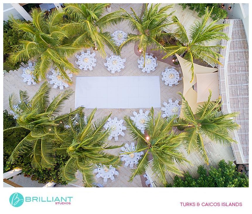 destination wedding set up at the shore club resort