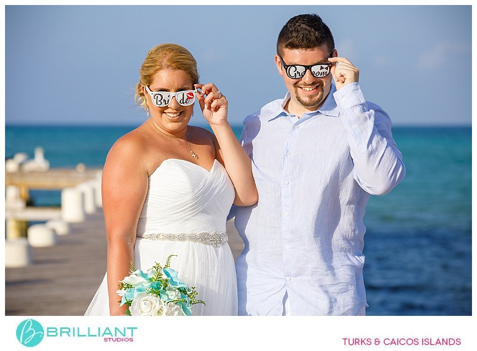 props at Turks and Caicos wedding