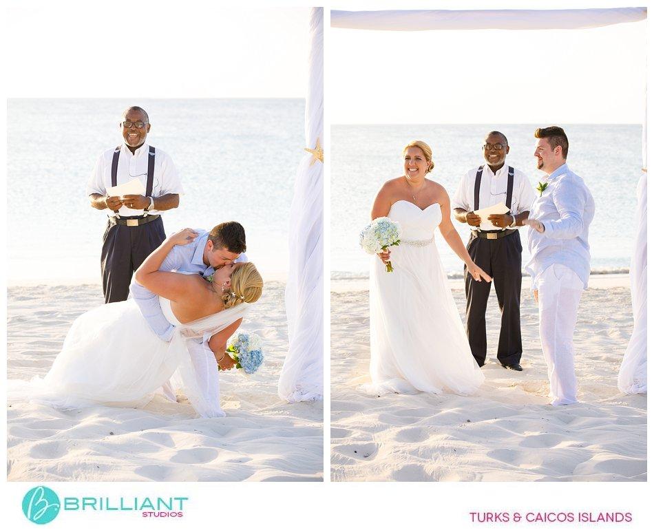 wedding beach ceremony Grace Bay Beach