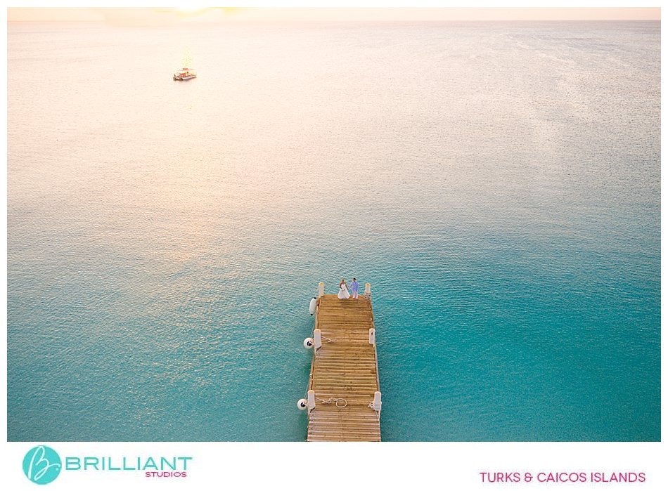 Turks and Caicos drone wedding photography