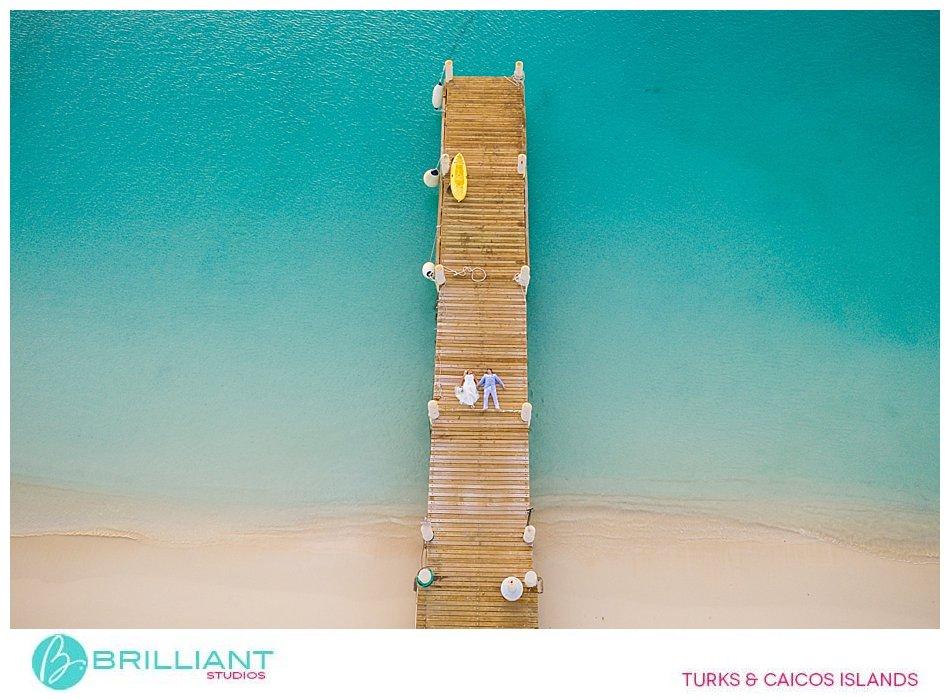 Club Med Turkoise drone wedding photos