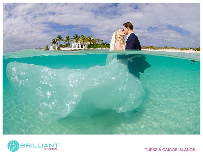 Turks and Caicos trash the dress photo shoot