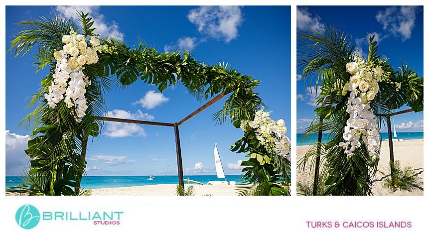 wedding arch on Grace Bay