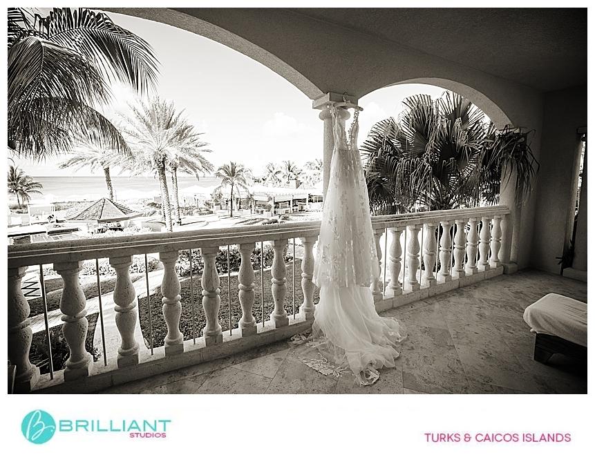wedding dress on Grace Bay Club