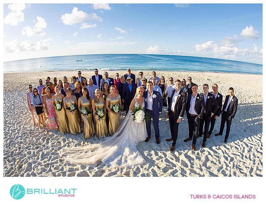Grace Bay beach group photo