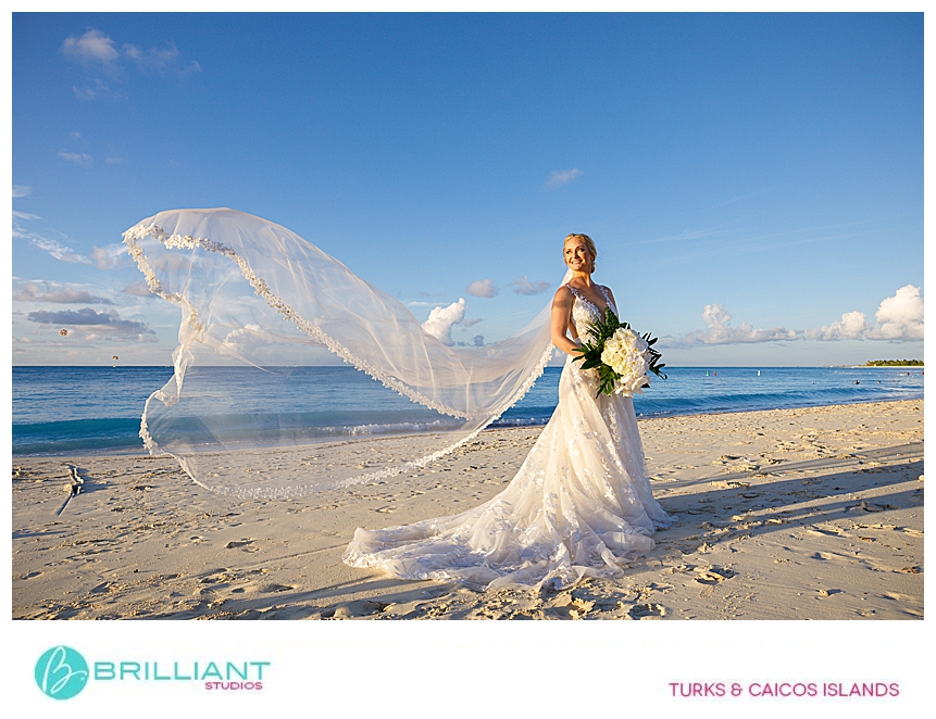 bride during a Turks and Caicos destination wedding