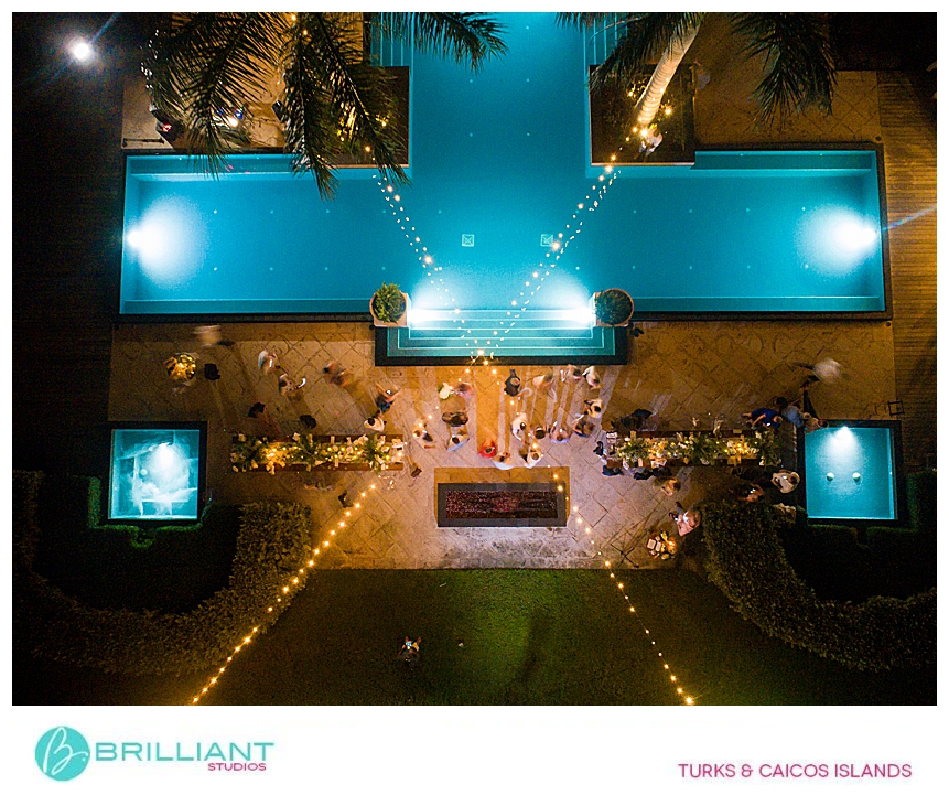 Turks and Caicos wedding reception
