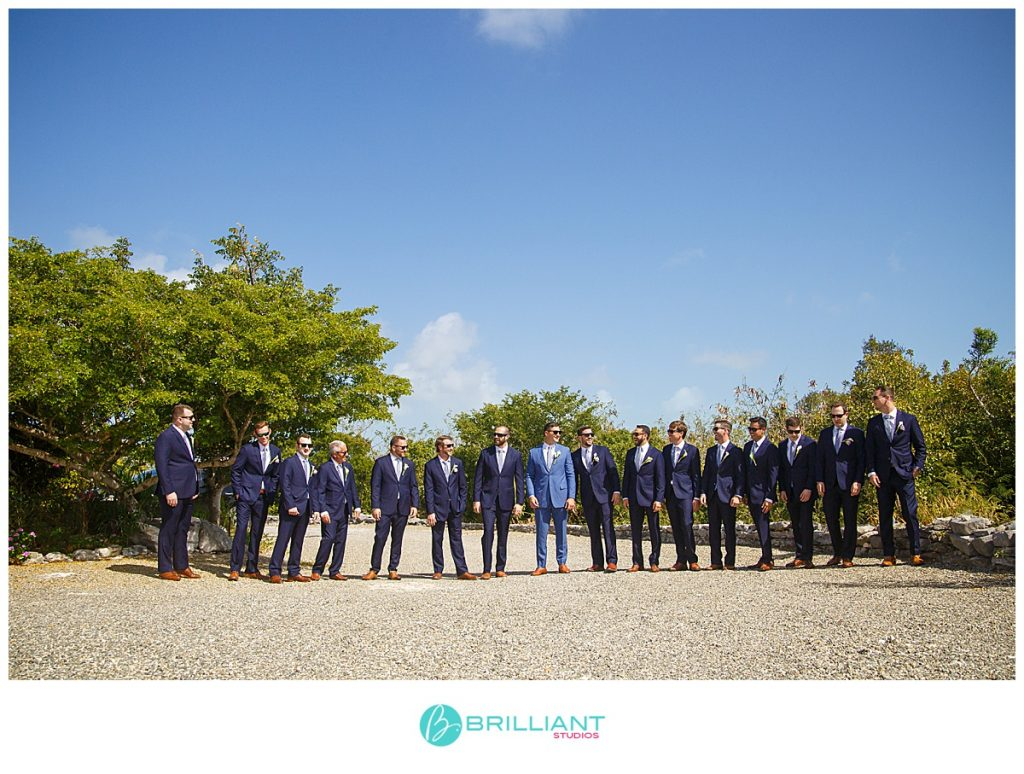 Turks and Caicos groom and groomsmen