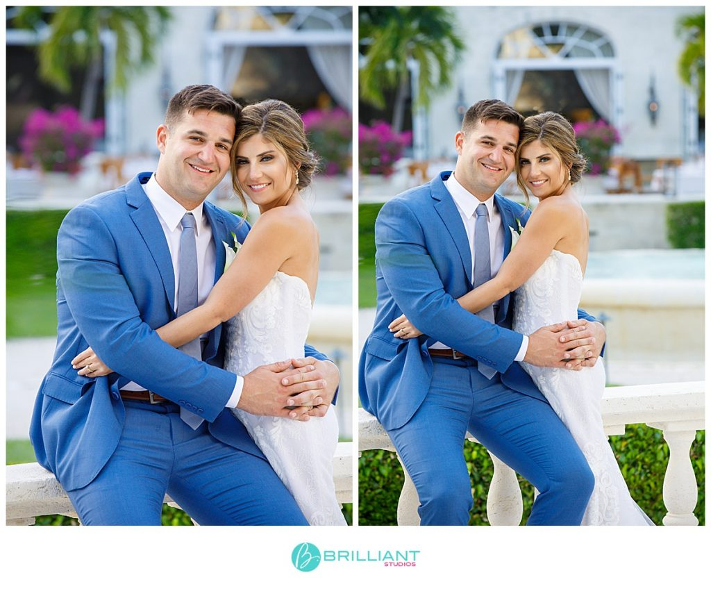 The Palms wedding couple