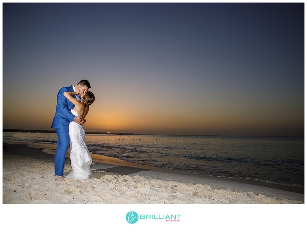 Turks and Caicos sunset wedding