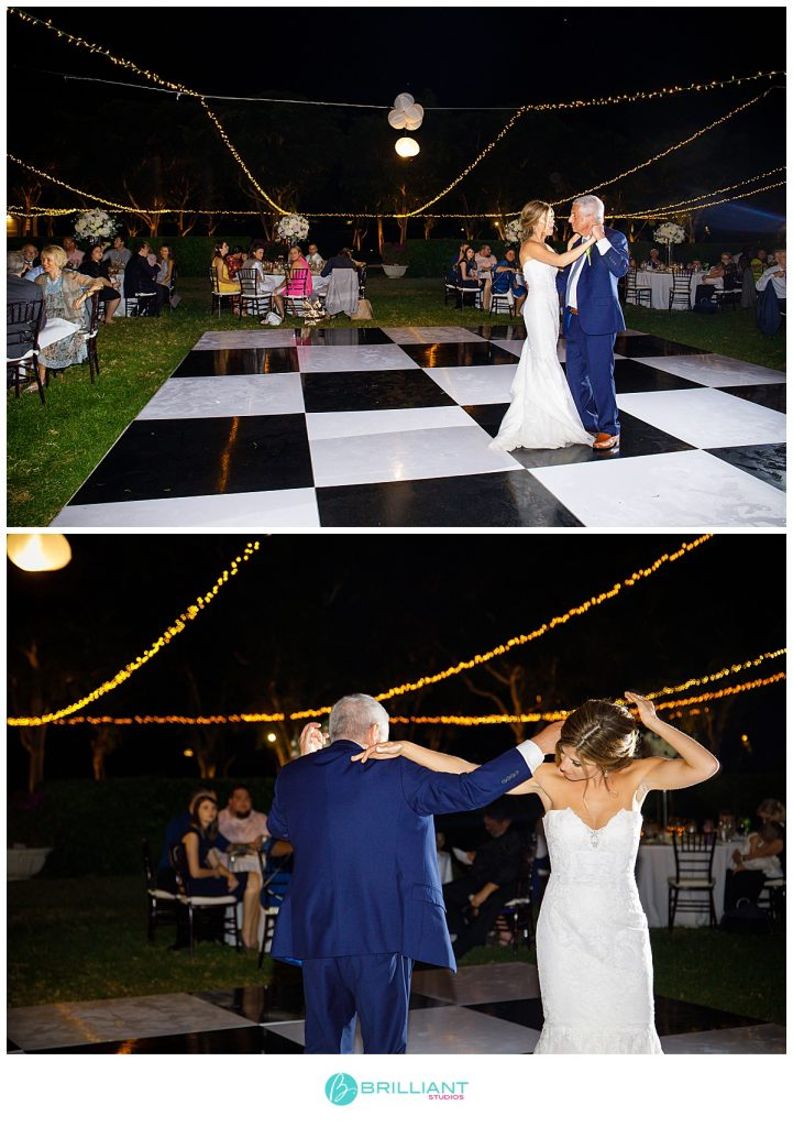 father and daughter dance wedding Turks and Caicos Islands