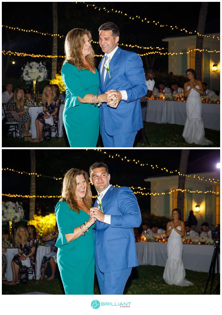 mom and son dance Turks and Caicos islands