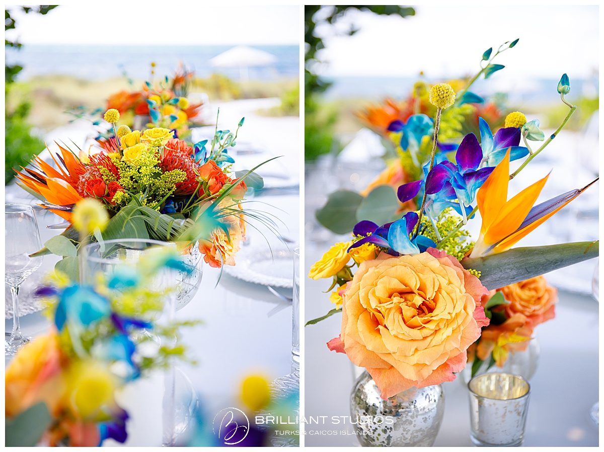 Turks and Caicos flowers at wedding