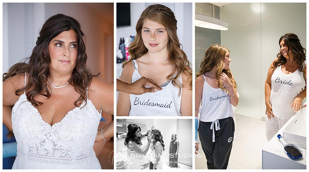 Turks and Caicos bride and bridesmaids