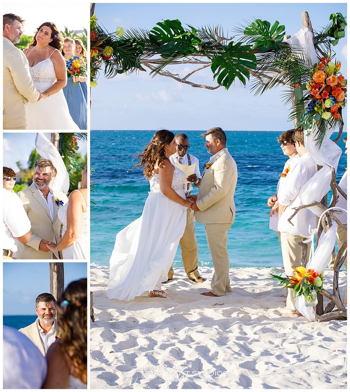 Grace Bay Beach wedding