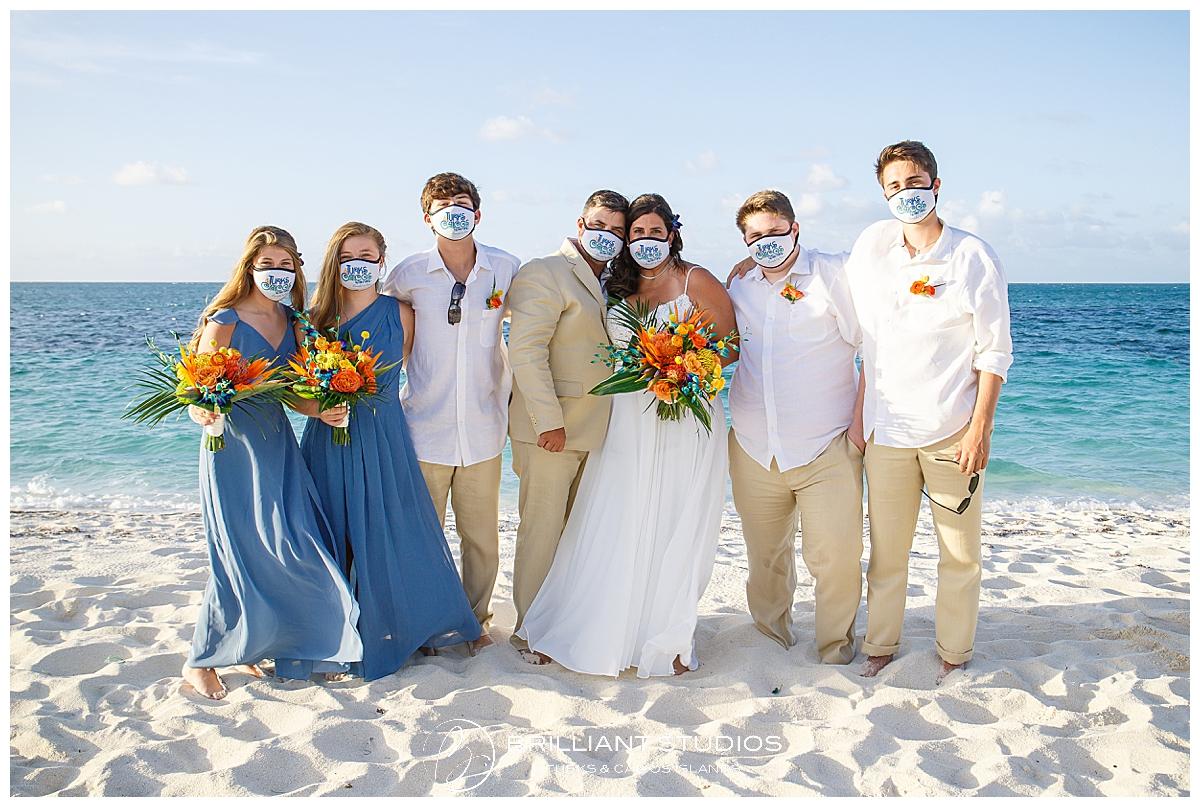 Turks and Caicos Covid 19 wedding on beach