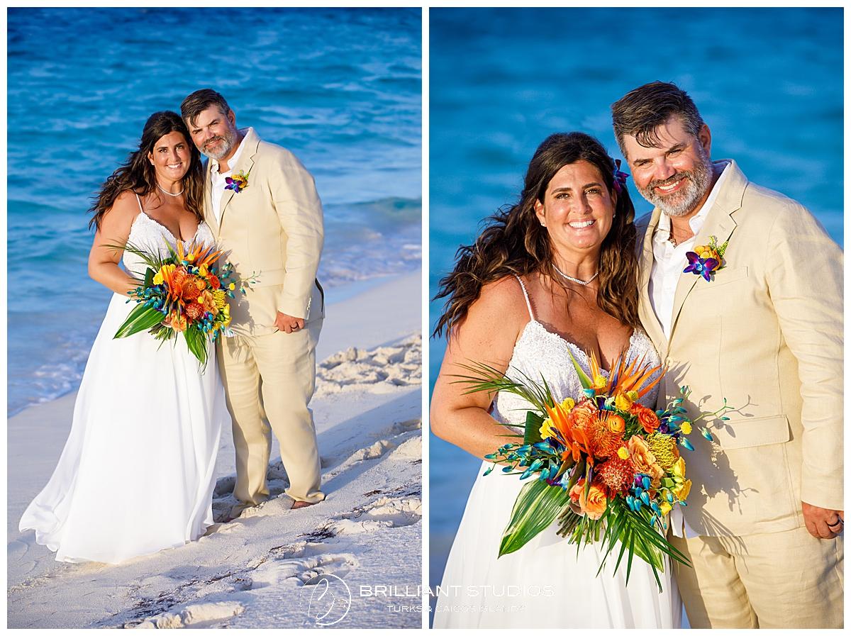 Turks and Caicos wedding couple