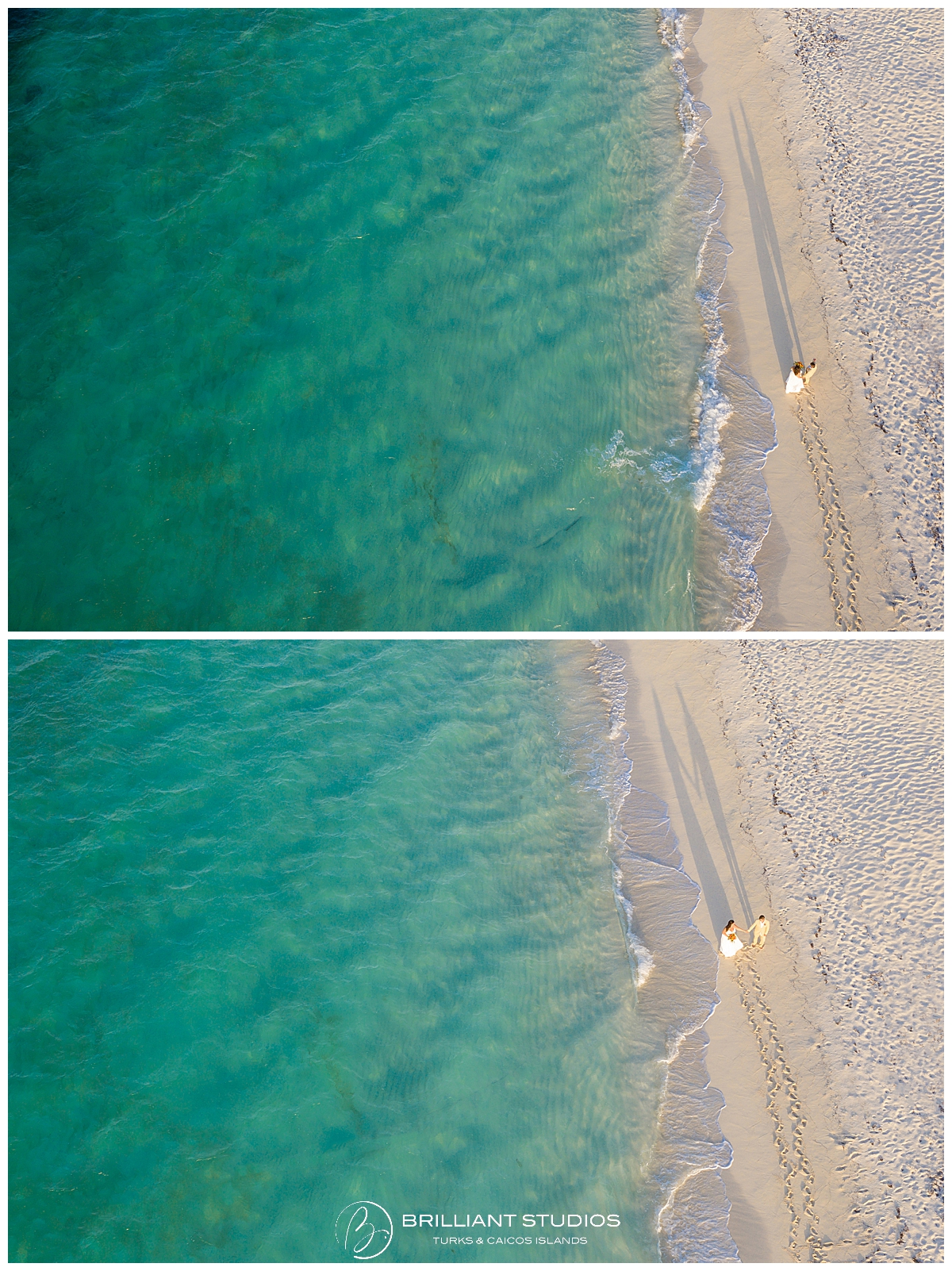 Turks and Caicos drone photography wedding