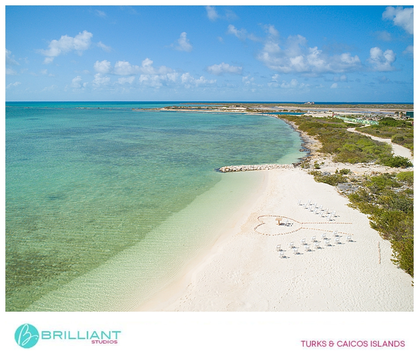 Destination wedding at Ambergris Cay