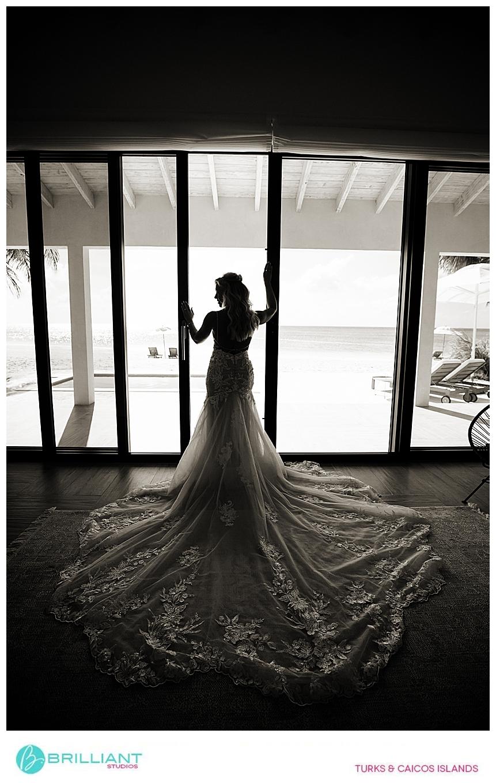 bride at a Turks and Caicos wedding