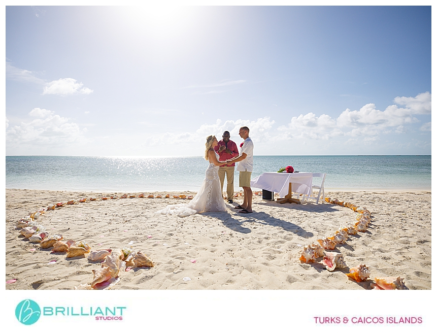 Destination wedding at a private island in Turks & Caicos