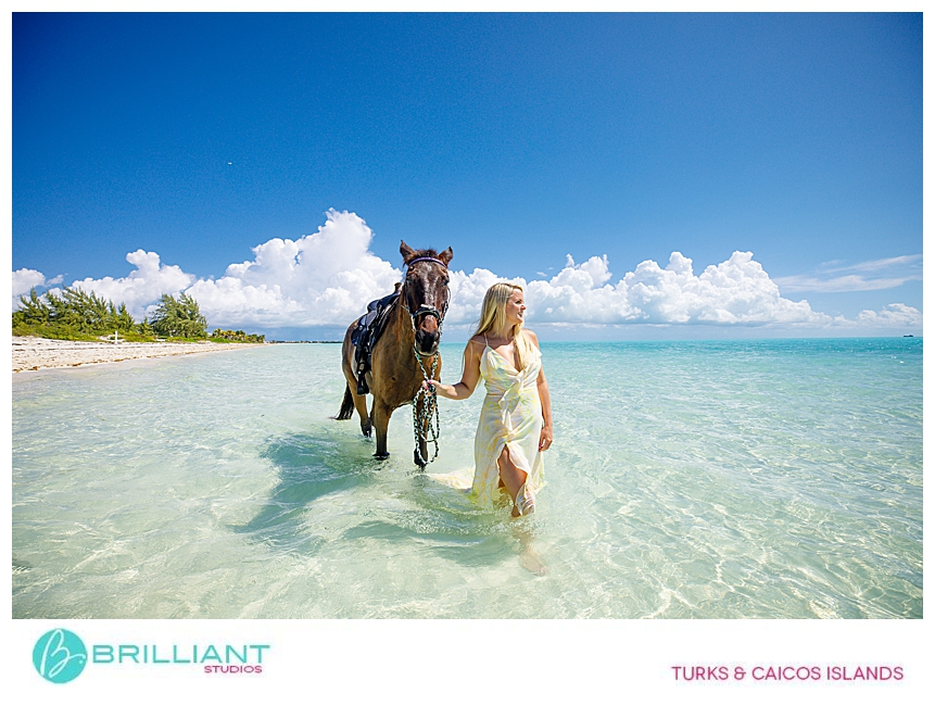 Private photo shoot at Long Bay beach in the Turks & Caicos