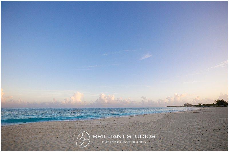 Grace Bay beach during sunrise