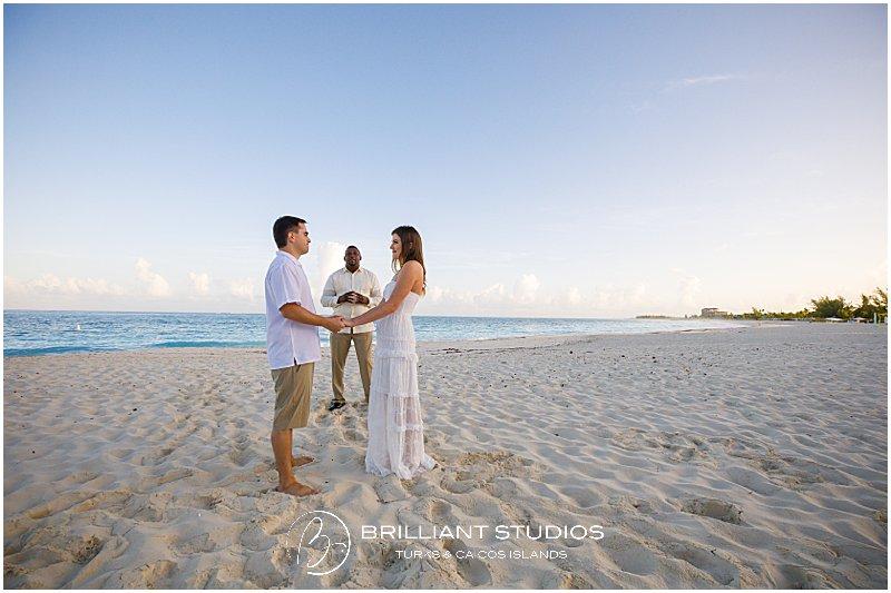 Grace Bay beach sunrise wedding