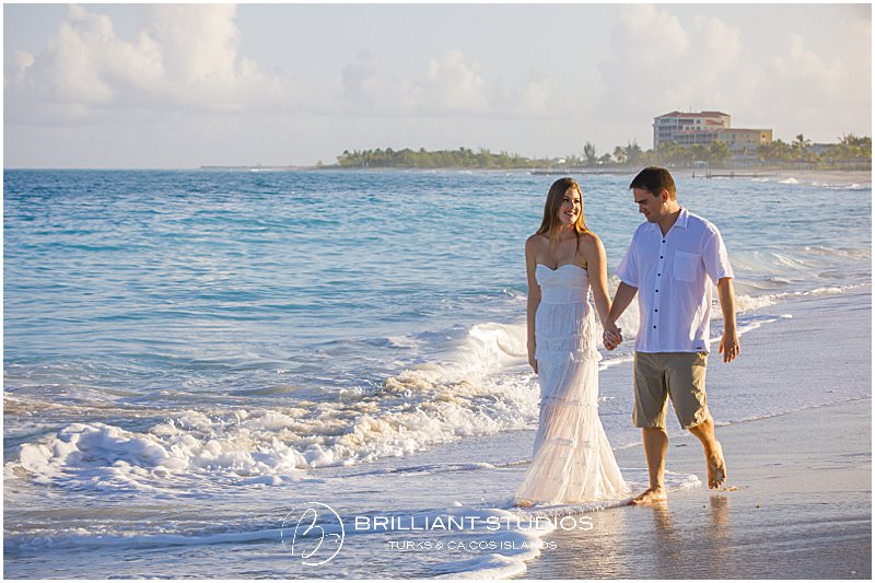 Grace Bay beach sunrise elopement