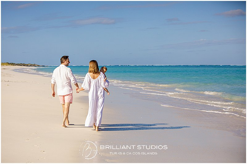 Family photo shoot at Parrot Cay Turks and Caicos