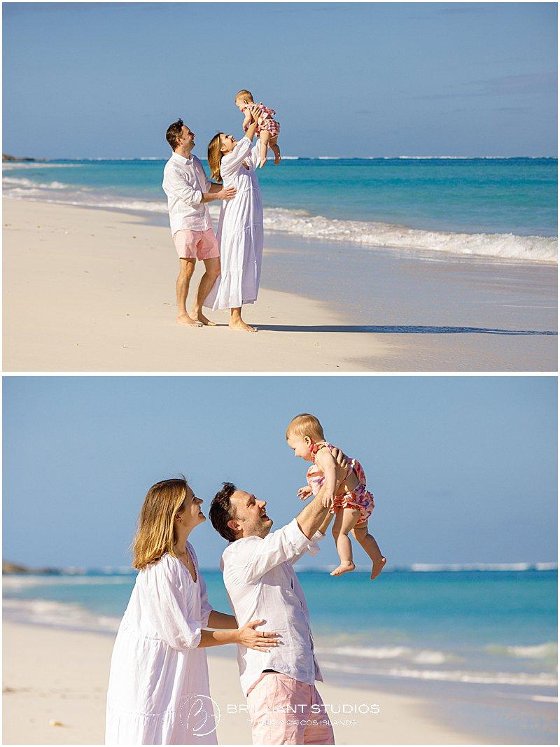 family having fun at Parrot Cay Turks & Caicos