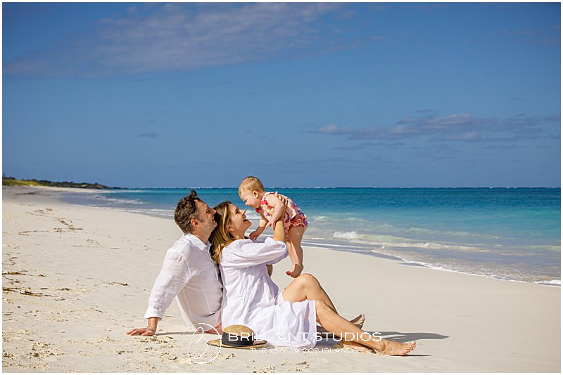 beach family photo shoot in the Turks and Caicos